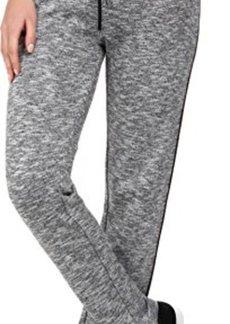 Calvin Klein Women's 2 Tone Melange Pant, Black/White, X-Large
