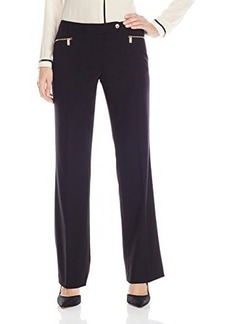Calvin Klein Women's 3 Pocket Suiting Pant, Black, 16