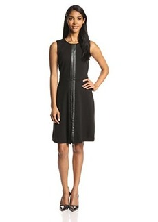 Calvin Klein Women's A-Line Dress with PU