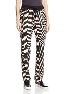 Calvin Klein Women's Printed Tapered Pant, Zebra, Medium