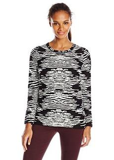 Calvin Klein Women's Animal Print Sweater, Black, Medium