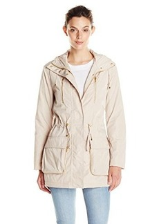 Calvin Klein Women's Anorak Jacket With Zip Pocket Trim