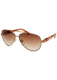 Calvin Klein Women's Aviator Brown Sunglasses