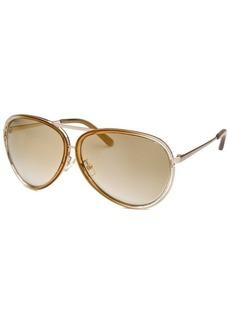 Calvin Klein Women's Aviator Gold Sunglasses