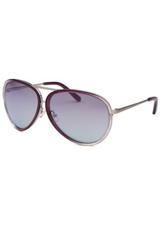 Calvin Klein Women's Aviator Plum Sunglasses