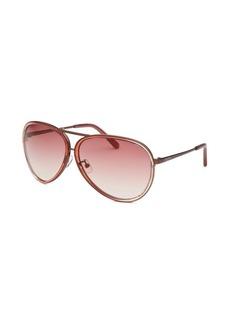 Calvin Klein Women's Aviator Rose Sunglasses