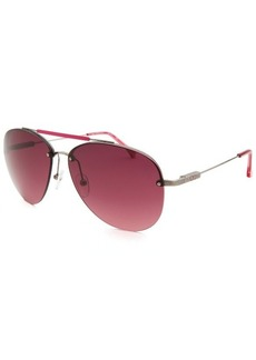 Calvin Klein Women's Aviator Semi-Rimless Sunglasses