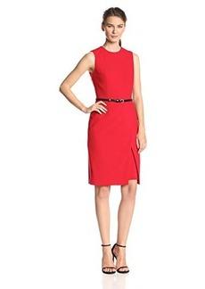 Calvin Klein Women's Belted Sheath Dress