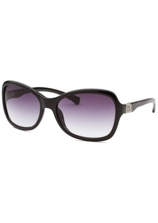 Calvin Klein Women's Butterfly Black Sunglasses