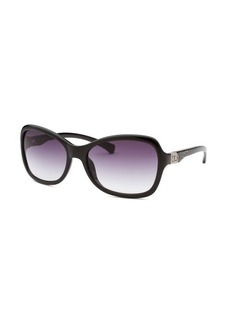 Calvin Klein Women's Butterfly Black Sunglasses