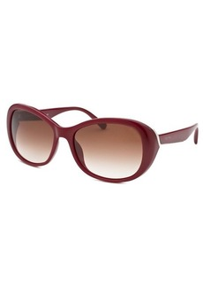 Calvin Klein Women's Butterfly Bordeaux Sunglasses