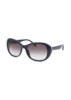 Calvin Klein Women's Butterfly Navy Blue Sunglasses