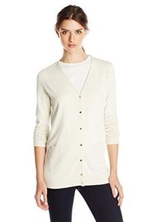 Calvin Klein Women's Button Front Cardigan, Soft White, Medium