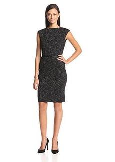 Calvin Klein Women's Cap-Sleeve Belted Sheath Dress