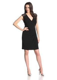 Calvin Klein Women's Cap-Sleeve Cross-Front Dress