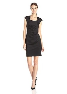 Calvin Klein Women's Cap Sleeve Side Rouched Dress