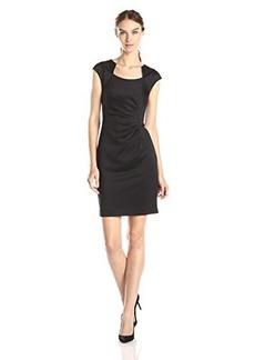 Calvin Klein Women's Cap-Sleeve Side-Ruched Dress