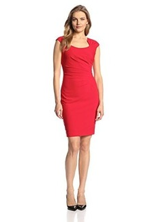 Calvin Klein Women's Cap-Sleeve Side-Ruched Sheath Dress