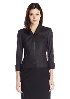 Calvin Klein Women's Career Novelty Jacket, Black, 10