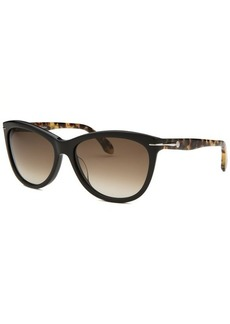 Calvin Klein Women's Cat Eye Black Tortoise Sunglasses