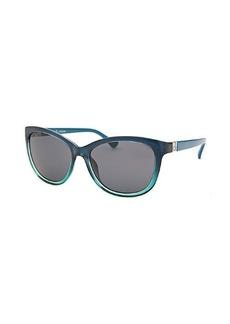 Calvin Klein Women's Cat Eye Blue Gradient Sunglasses