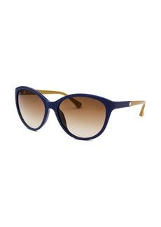 Calvin Klein Women's Cat Eye Blue Reptile Print Sunglasses