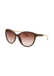 Calvin Klein Women's Cat Eye Brown Sunglasses