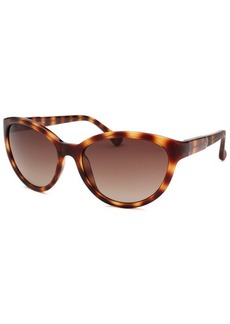 Calvin Klein Women's Cat Eye Havana Sunglasses
