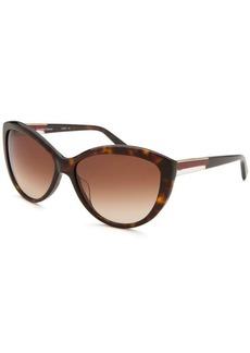 Calvin Klein Women's Cat Eye Havana Sunglasses