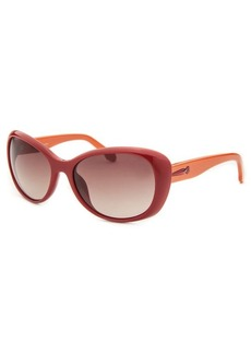 Calvin Klein Women's Cat Eye Red Sunglasses