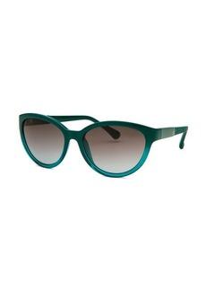 Calvin Klein Women's Cat Eye Teal Sunglasses