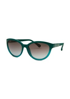 Calvin Klein Women's Cat Eye Teal Sunglasses