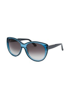 Calvin Klein Women's Cat Eye Translucent Blue Sunglasses