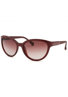 Calvin Klein Women's Cat Eye Wine Sunglasses