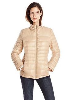 Calvin Klein Women's CK Classic Short Packable Jacket, Sandstone, Large