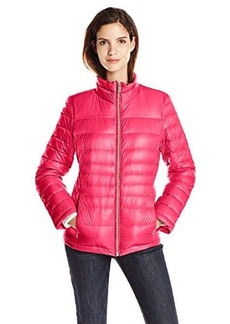 Calvin Klein Women's CK Classic Short Packable Jacket, Watermelon, X-Large