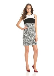 Calvin Klein Women's Color-Block Jacquard Dress
