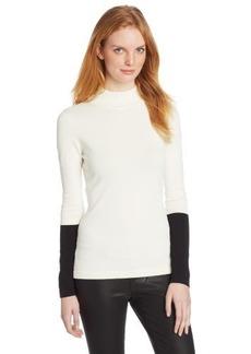 Calvin Klein Women's Color-Block Mock-Turtleneck Sweater