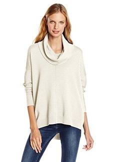 Calvin Klein Women's Cowl-Neck Ribbed Sweater