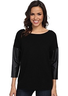 Calvin Klein Women's Crew Sweater, Black, Large