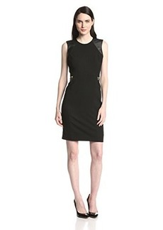 Calvin Klein Women's Sheath Dress with Gold Zips