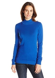 Calvin Klein Women's Essential Mock Neck Sweater, Celestial, X-Small