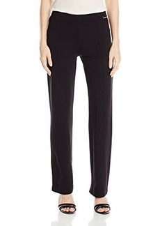 Calvin Klein Women's Essential Power Stretch Straight Pant, Black, X-Large