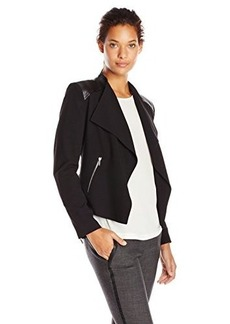 Calvin Klein Women's Flyaway Jacket with Zipper Hardware