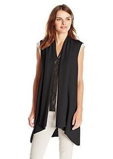 Calvin Klein Women's Flyaway Sweater Vest, Black, Small