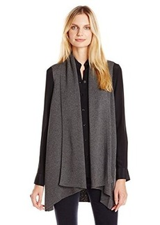 Calvin Klein Women's Flyaway Sweater Vest, Heather Charcoal, X-Large