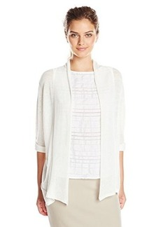 Calvin Klein Women's Flyaway Sweater with Roll Sleeve, Soft White, X-Large