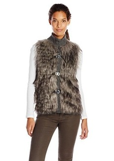 Calvin Klein Women's Faux-Fur Sweater Vest