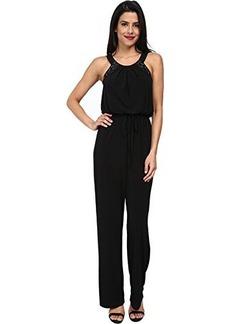 Calvin Klein Women's Heatfix Jumpsuit, Black, 10