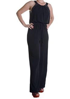 Calvin Klein Women's Heatfix Jumpsuit, Black, 6